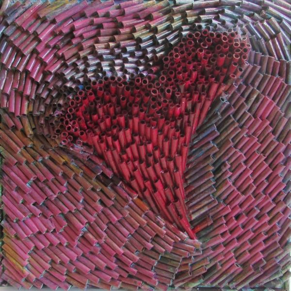 Zeitgenössisch, Mischtechnik, Acrylmalerei, Moderne kunst, Abstrakt, Zeitungspapier
