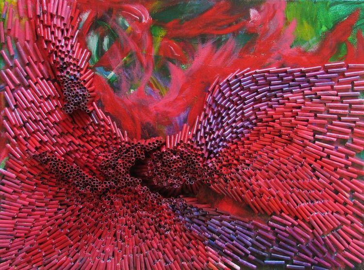 Zeitgenössisch, Recycling, Moderne kunst, Abstrakt, Mischtechnik, Vision