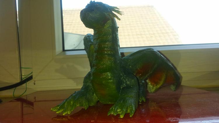 Skulptur, Drache, Grün, Plastik, Wächter