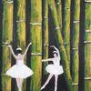 Fantasie, Bambus, Ballerina, Malerei