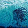 Meer, Frau, Blau, Wasser