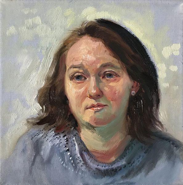 Portrait, Gesicht, Ölmalerei, Frau, Malerei