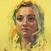 Portrait mädchen, Licht, Menschen, Frau