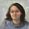 Portrait, Gesicht, Frau, Ölmalerei