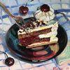 Montagskuchen, Torte, Stillleben, Malerei