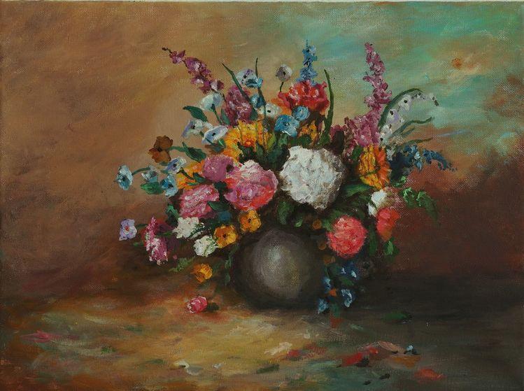 Impressionismus, Blumen, Stillleben, Malerei