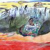 Illustration, Szene, Psychedelisch, Traum
