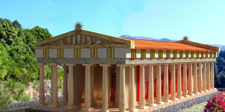 Apollo, Sonnengott, Tempel, Mythologie, Griechische mythologie, Blender