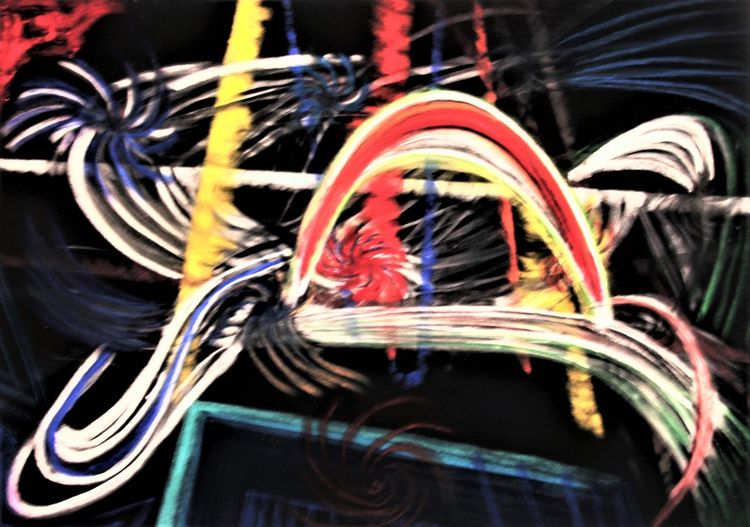 Orginalgrafik, Lebensfreude, Gegenwartskunst, Expressionismus, Fantasie, Zeichnungen