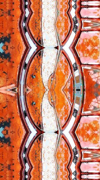 Bschoeni, Abstrakt, Graffiti, Orange, Digitale kunst
