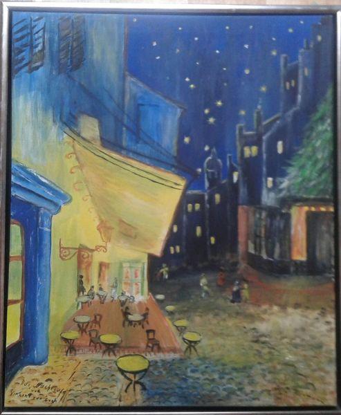 Abend, Nachtcafe, Vincent van gogh, Südfrankreich, Mischtechnik, Gogh