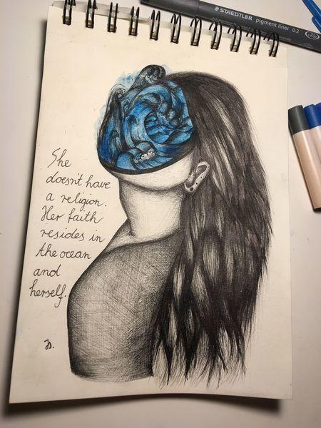 Glaube, Traum, Ozean, Leben, Mädchen, Seele