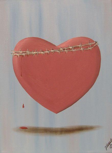 Gefühl, Schmerz, Herz, Malerei