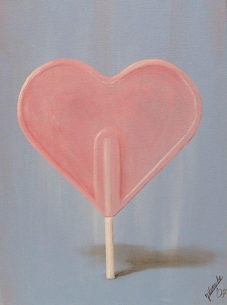 Gefühl, Herz, Lutscher, Malerei