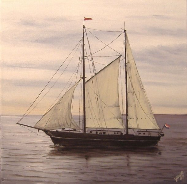 Wind, Meer, Schiff, Malerei