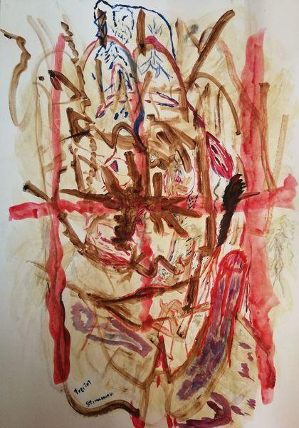 Acrylmalerei, Gedanken, Welt, Bewusstsein, Malerei,