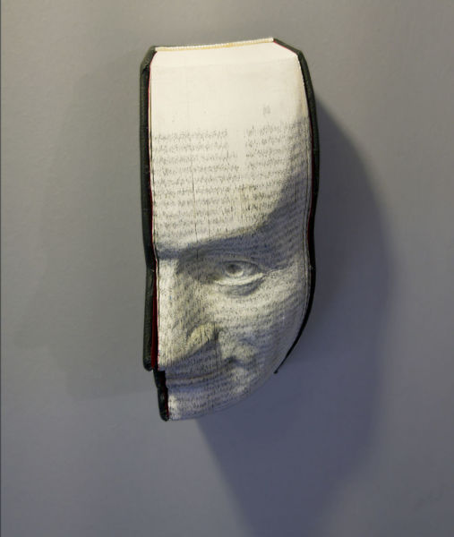 Portrait, Ausdruck, Buch, Augen, Skulptur, Menschen