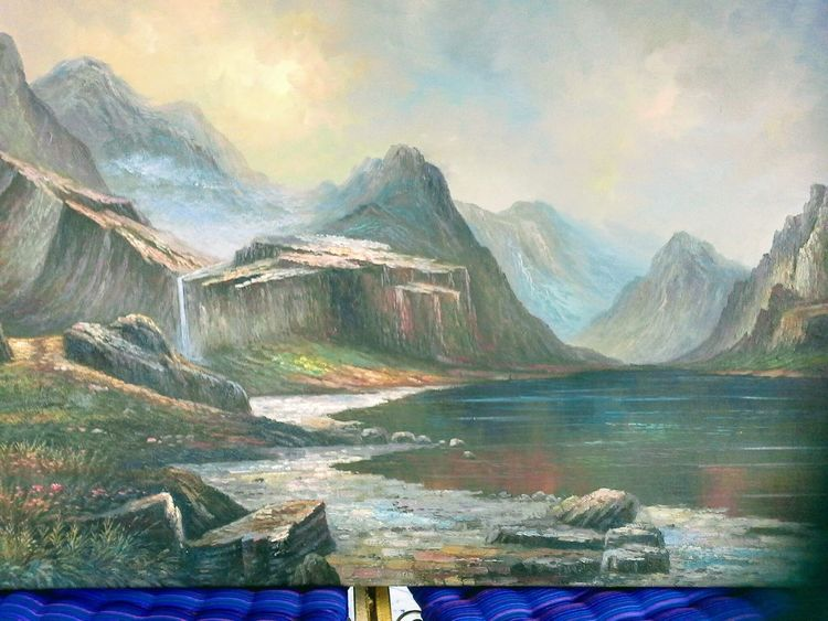 Old master study, Landschaft, Gemälde, Malerei
