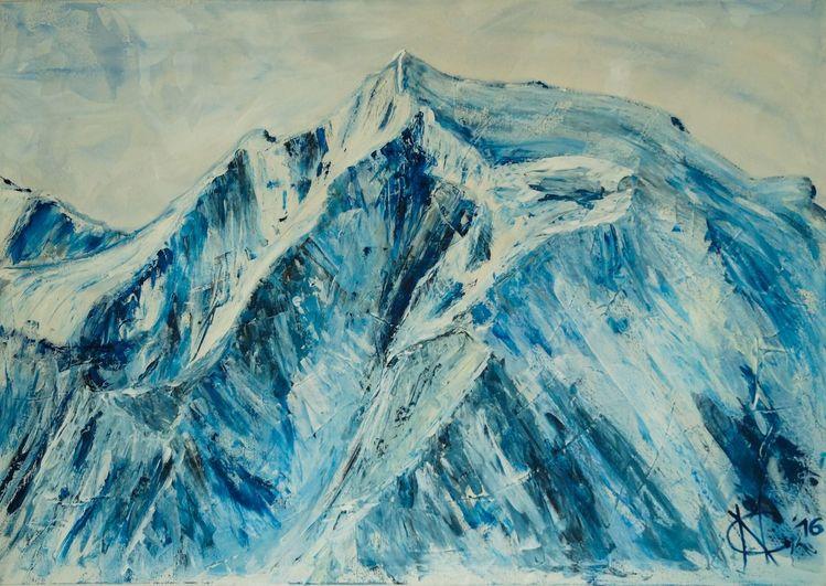 Berge, Spachteltechnik, Südtirol, Wunderschön, Acrylmalerei, Ölmalerei