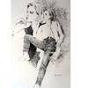 Mädchen, Zeichnung, Frau, Figural