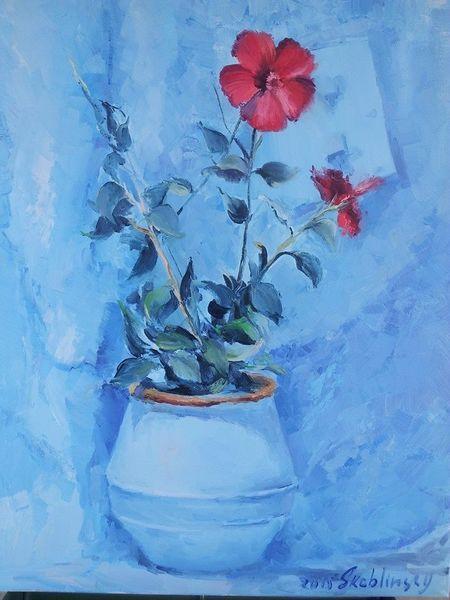 Natur, Blumen, Malerei, Kontrast