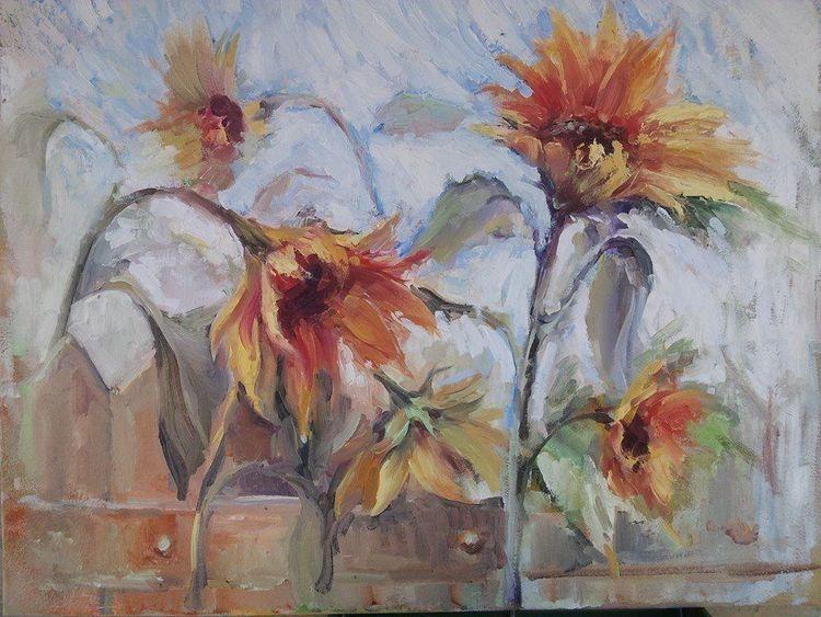 Malerei, Natur, Blumen