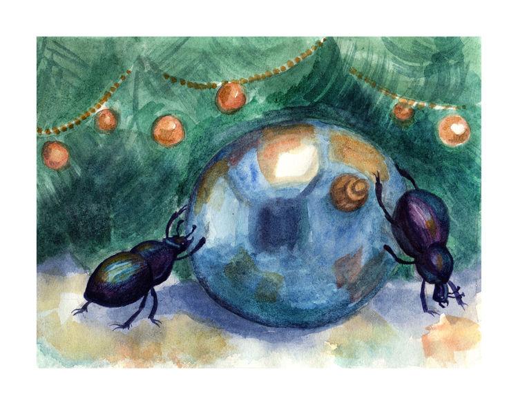 Insekten, Tanne, Weihnachten, Schmuck, Winter, Fest