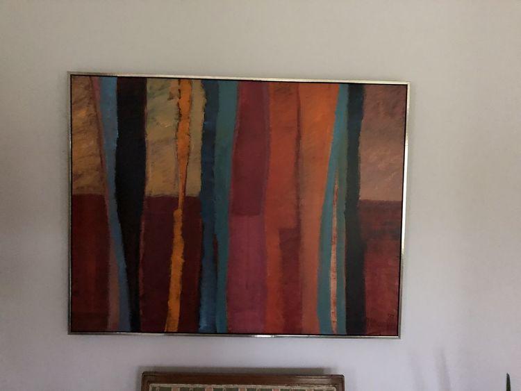 Ölmalerei, Auf leine, Abstrakt, Malerei
