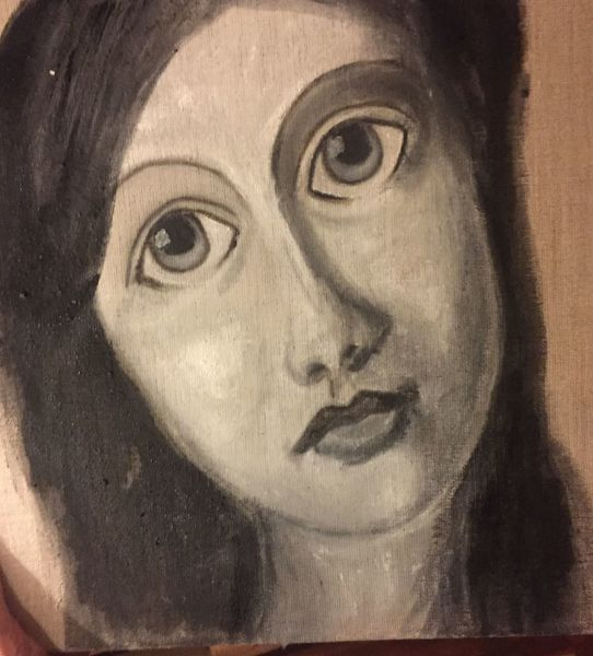 Göttin lilith, Frau, Malerei, Leinen, Pigmente