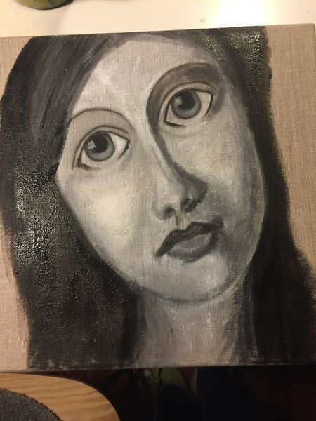 Frau, Göttin lilith, Malerei, Pigmente, Leinen