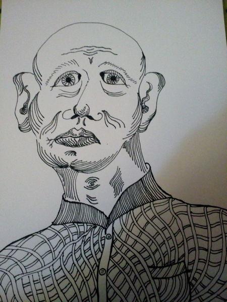 Denken, Zeichnung, Mann, Zeichnungen