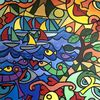 Malerei, Tiere, Schiff, Körper