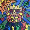 Löwe, Tiere, Abstrakt, Malerei