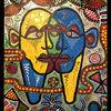 Malerei, Abstrakt, Gesicht
