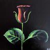 Blumen, Blätter, Rot, Grün