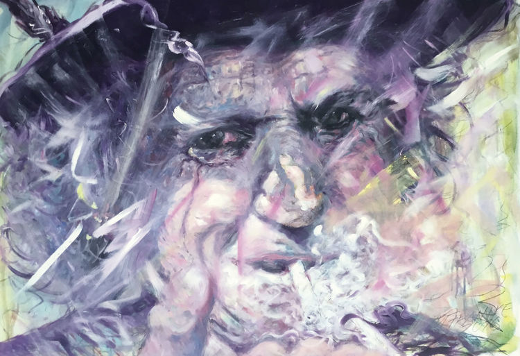 Smoker, Rolling stones, Keith richards, Malerei