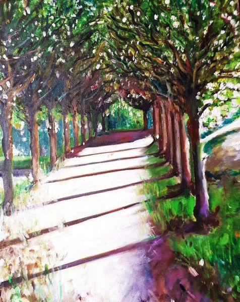 Alee, Baum, Park, Malerei