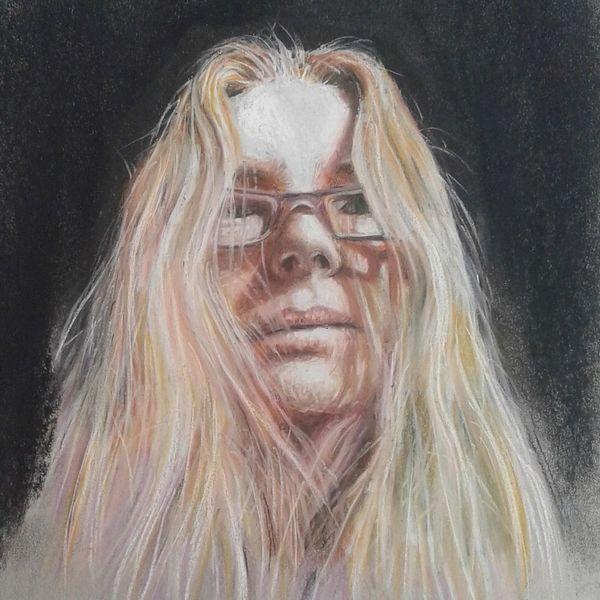 Pastellmalerei, Strathmore, Selbstportrait, Zeichnungen