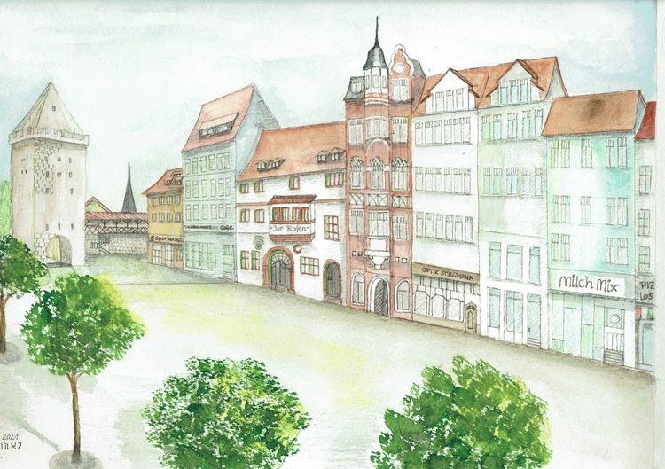 Johannisstrasse, Johannistor, Gasthaus zur rose, Thüringen, Jena, Deutschland