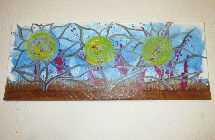 Abstrakt, Ölmalerei, Blumen, Fantasie, Malerei