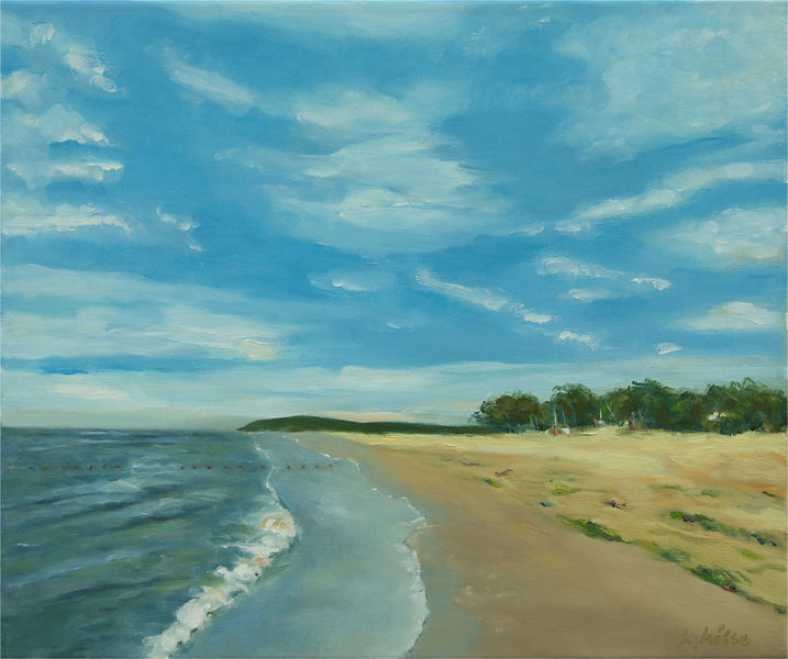 Strand, Dünen, Natur, Insel, Wolken, Landschaftsmalerei