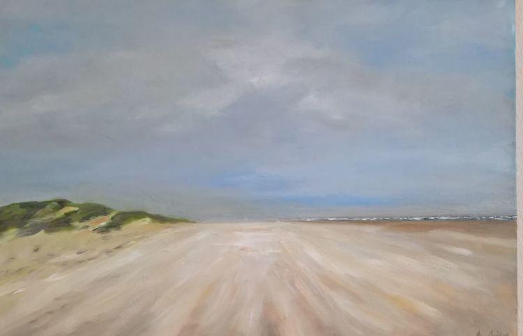 Wind, Strand, Landschaftsmalerei, Dünen, Himmel, Insel