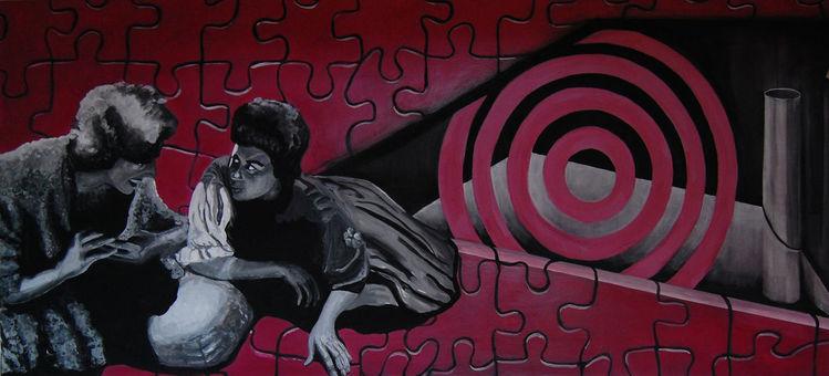 Rot, Puzzle, Oper, Geometrie, Malerei, München