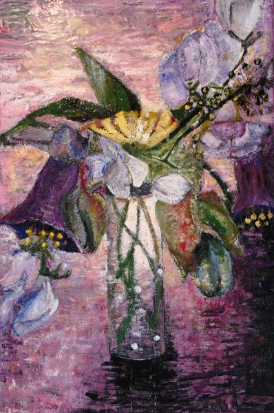 Früchte, Violett, Wicken, Glockenreben, Blumenstrauß, Blüte