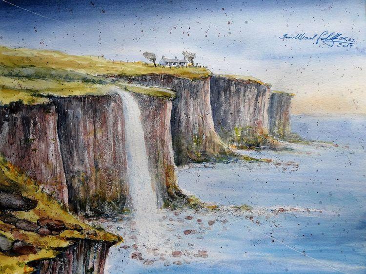 Aquarellmalerei, Highlands, Kilt, Schottland, Aquarell,