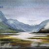 Schottland, Einsamkeit, Aquarellmalerei, Landschaft