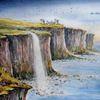 Highlands, Schottland, Kilt, Aquarellmalerei
