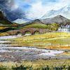 Highlands, Isle of skye, Sligachan bridge, Schottland