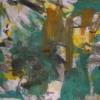 Abstrakte malerei, Informel, Grün gelb, Abstrakt