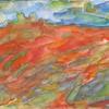 Landschaft, Aquarellmalerei, Rot, Aquarell